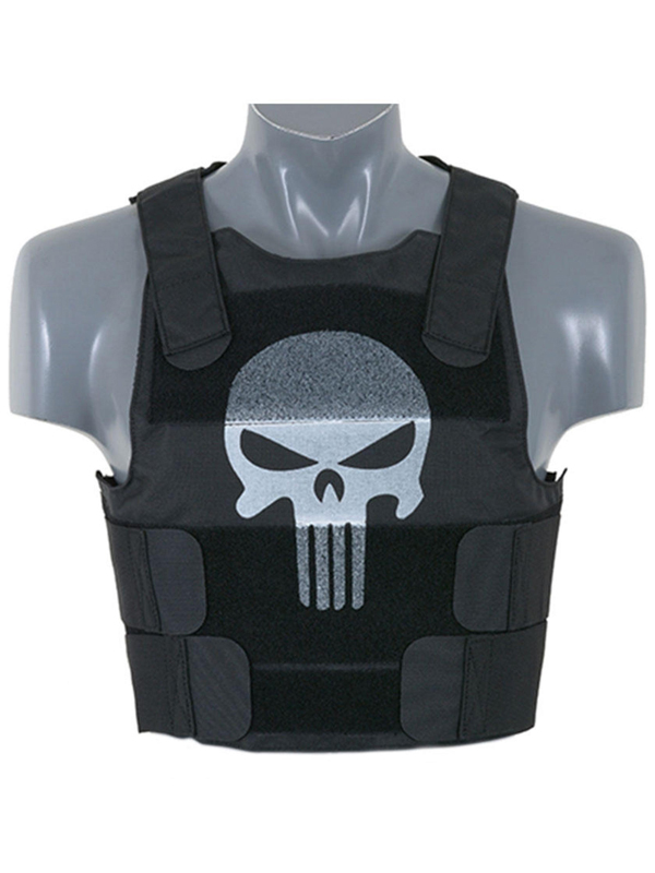 black skull body armour carrier