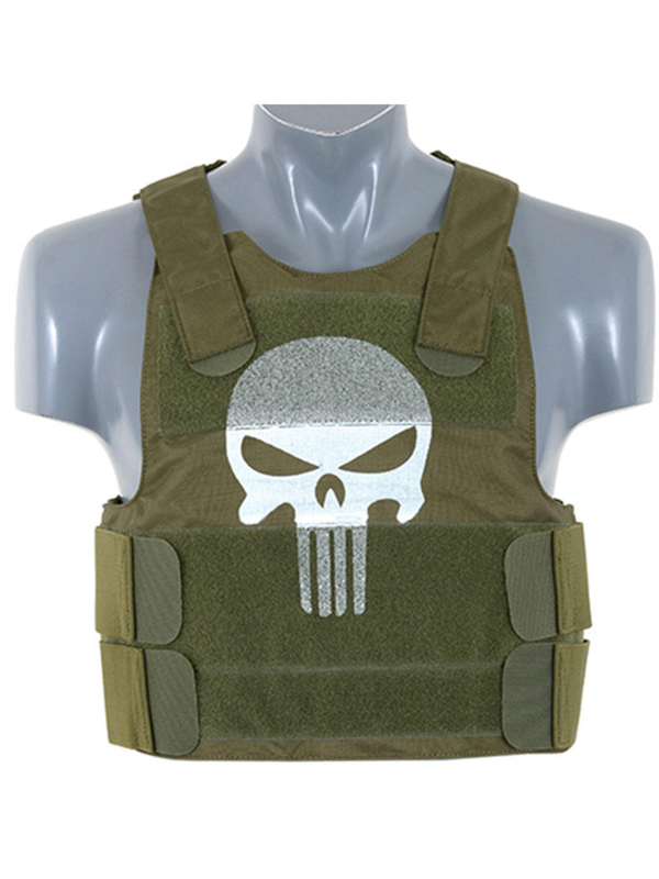 green skull body armour carrier